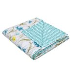 Yellow Flower Reversible Pure Cotton Double Bed Dohar