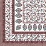 Fitted Sheet – Floral Print Fitted Bedsheet with Two Pillow Covers