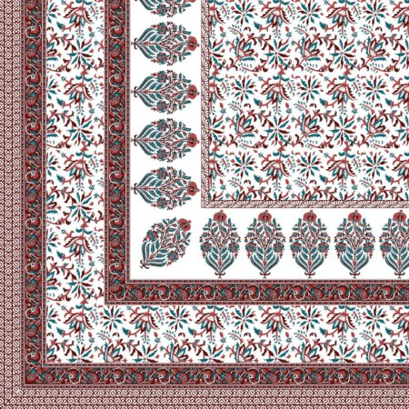 Fitted Sheet – Floral Print Fitted Bedsheet Closeup
