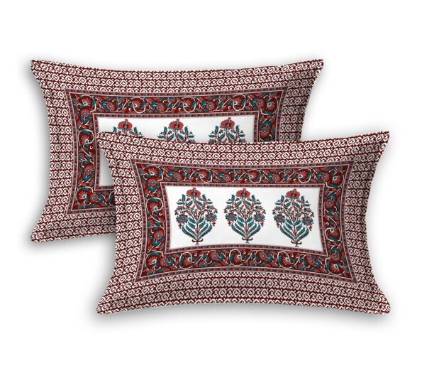 Fitted Sheet – Floral Print Fitted Bedsheet Pillow Covers