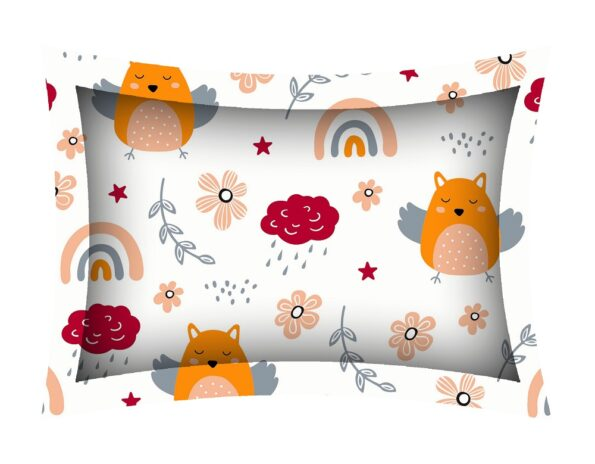Fitted Sheet – Kids Orange Night Owl King Size Fitted Bedsheet Pillow Covers