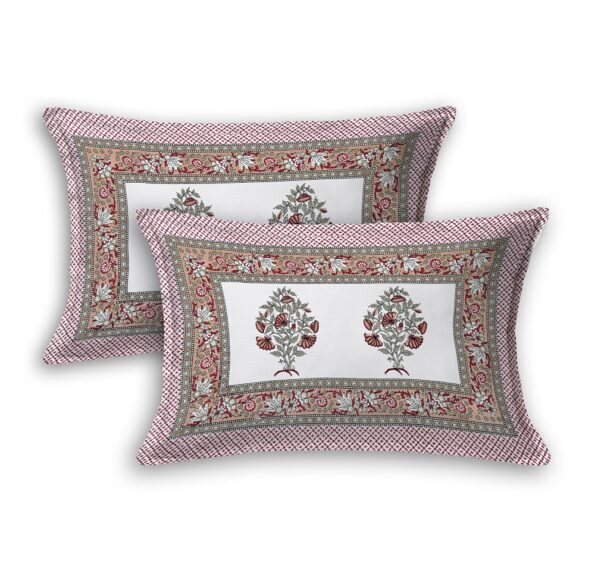 Fitted Sheet – Red Flower Print Fitted Bedsheet Pillow Covers