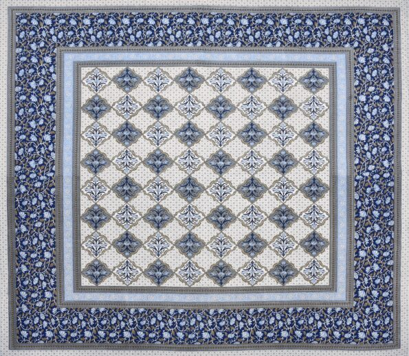 Fitted Sheet – Blue Flower Print Fitted Bedsheet Fullview