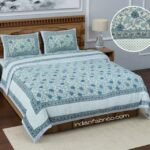 Fitted Sheet – Brown Base Floral Printed Fitted Bedsheet with Two Pillow Covers