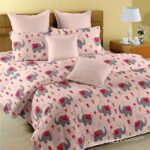 Fitted Sheet – Kids Baby Elephant Peach King Size Fitted Bedsheet