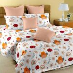 Fitted Sheet – Kids Orange Night Owl King Size Fitted Bedsheet