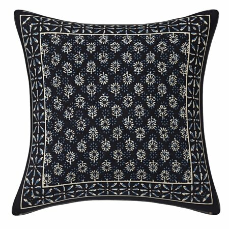 Blue Indigo Floral Printed Cushion Covers